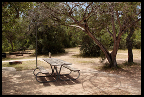 Walk-In Camping at South Llano River State Park, Junction Texas